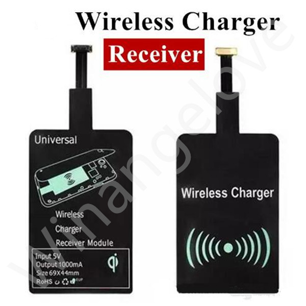 500PCS/Lot Universal Qi Wireless Charger Receiver Adapter Receiver Pad Coil Android Phone Micro USB smartphone charger Receptor