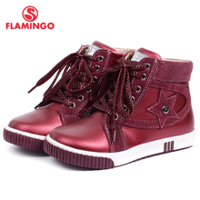 FLAMINGO 2016 new collection autumn/winter fashion kids boots high quality anti-slip kids shoes for boys W6XY122/123