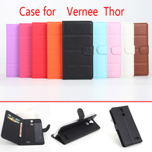 HongBaiwei Case for Vernee Thor Cover Luxury Brand Leather Flip Litchi Grain Magetic Wallet Phone Bag Case for Vernee Thor