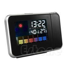 Desk Bedside Digital Alarm Clock Tempreture Display Orange Light New Promotion LED Alarm Clock(China)