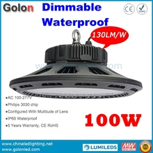 Stadium tennis volleyball badminton football basketball sport court warehouse cold storage lighting dimmable 100W LED bay light(China)