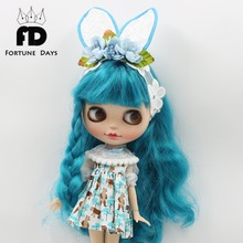 Free shipping for icy blyth Doll bear dress headdress green shawl suit 1/6 30cm gift toy(China)