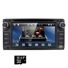 2 din 6.2 inch 800*480 Car DVD player GPS+BT+Radio+Touch Screen+car pc+aduio+Stereo+Video For Toyota Hilux VIOS Camry Corolla TV(China)