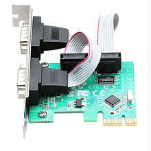 2 Port RS232 RS-232 Serial Port COM to PCI-E PCI Express riser Card Adapter Converter TX382B chipest pcie adaptator