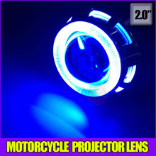 Buy 2.0inch Auto Motorcyle Projector lens hid xenon lights high low beam double CCFL angel eyes,demon eyes headlight for $28.44 in AliExpress store