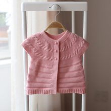 2017 spring and autumn new style children's baby cardigan sweater knitted sweater vest  cotton sweater