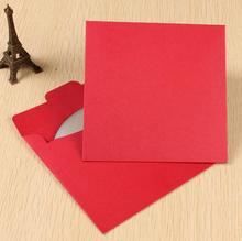 12.5*12.5CM Kraft single CD case paper bag Kraft Paper box dvd blank red cd cover Envelope dvd box Sleeve Holding(China)