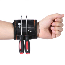 Fashion Nylon Magnetic Wristband Pocket Tool Practical strong Chuck wrist Toolkit Belt Pouch Bag Screws Holder Holding Tools(China)