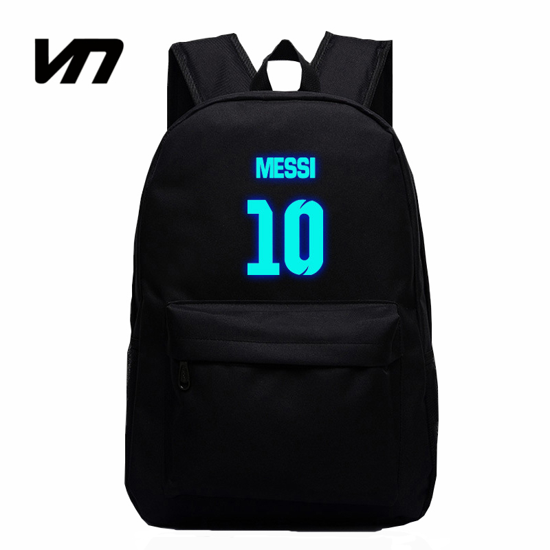 VN Brand Messi Bag 10# Night Luminous Backpacks Messi Fan Bag Star Backpack School Bag For Teenagers Best Birthday Gift For Kids<br><br>Aliexpress