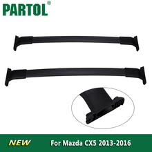 Partol 2x Black Car Roof Rack Cross Bars Roof Luggage Carrier Roof Rail Bike Rack 150LBS/68KG for Mazda CX5 2013 2014 2015 2016(China)