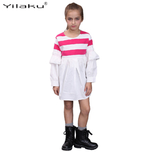 Buy Spring Teenager Girl Dress 2017 New Casual Striped Girls Dresses Children Ruffles Long Sleeve Sundress Kids Clothing CA459 for $9.99 in AliExpress store