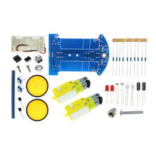 D2-1 DIY Kit Intelligent Tracking The Car Kit D2-1 Patrol Car Parts Electronic Manufacture DIY Smart Car DIY Electronic Suite(China)