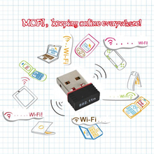 Kebidumei 10pcs/lot Mini Network Card USB 2.0 WiFi Wireless Adapter 150M Mini 150Mbps 802.11 ngb Ralink MT7601(China)