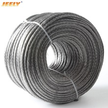 Free Shipping Best Quality 3mm 10M 12 Weaves 2000lbs Towing Winch Rope Spectra(China)