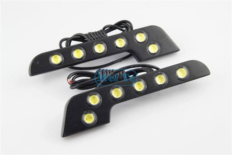 2 Pcs/Lot New Led DRL L Shape 12V Xenon White LED COB Car Auto LED DRL Driving Daytime Running Lamp LED Fog Front Light<br><br>Aliexpress