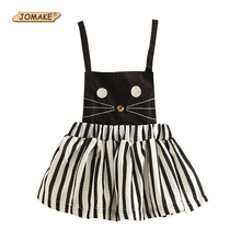 Buy Striped Cartoon Cat Baby Girl Dress Cute Toddler Girl Clothing Girls Dresses Summer 2017 Strap Princess Dress Girls Clothes for $10.08 in AliExpress store