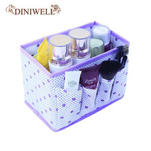 DINIWELL Home Foldable Make Up Organizer Cosmetic Makeup Storage Box Desktop Pen joyero escritorio organizador de maquillaje(China)
