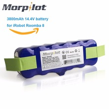 Morpilot 3800mAh 14.4V Xlife Extended 1000-Circles Ni-MH Battery for iRobot Roomba 500 600 700 800 510 530 531 570 580 595 780(China)
