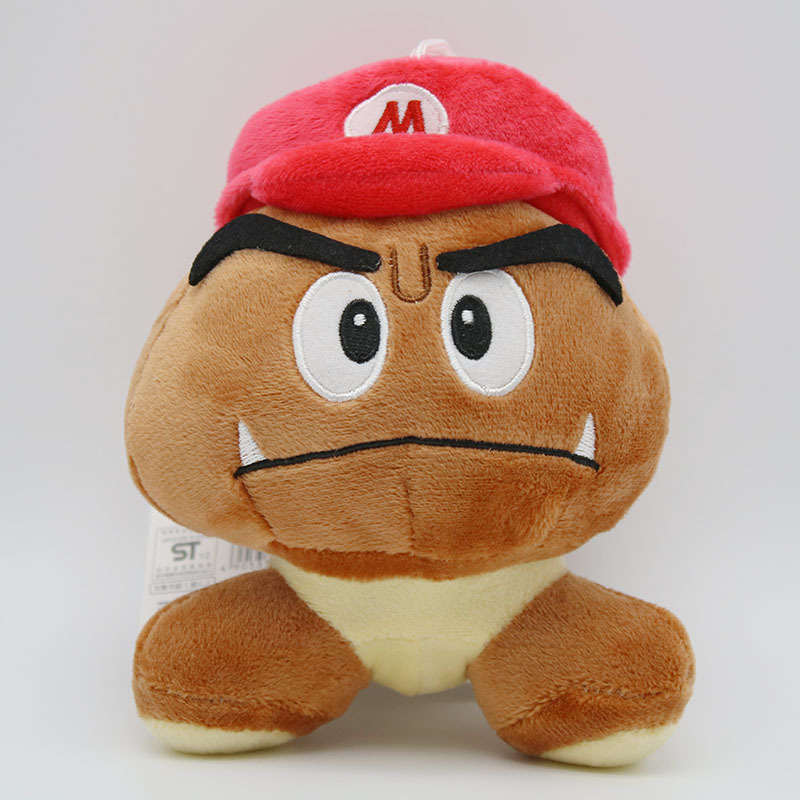 Super Mario Bros Goomba Plush Toys Game Cartoon Poisonous Mushrooms Soft Stuffed Dolls 5pcslot  (2)