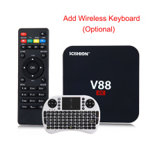 SCISHION V88 4K Android 5.1 Smart TV Box Rockchip 3229 1G/8G 4 USB 4K 2K WiFi Full Loaded Quad Core 1.5GHZ Media Player PK A95X
