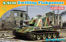 Draon model 7488 1/72 5.5cm Zwilling Flakpanzer plastic model kit(China)