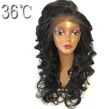 36C Loose Deep Human Hair Lace Front Wigs Remy Hair Chinese 150% Heavy Density Wig With Free Part Baby Hair For Black Women(China)