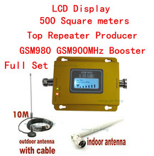 Full Set GSM 900MHz cell Phone Signal Booster lcd display Repeater gsm Signal Amplifier w/ Antenna gsm repeater kits 17dbm(China)