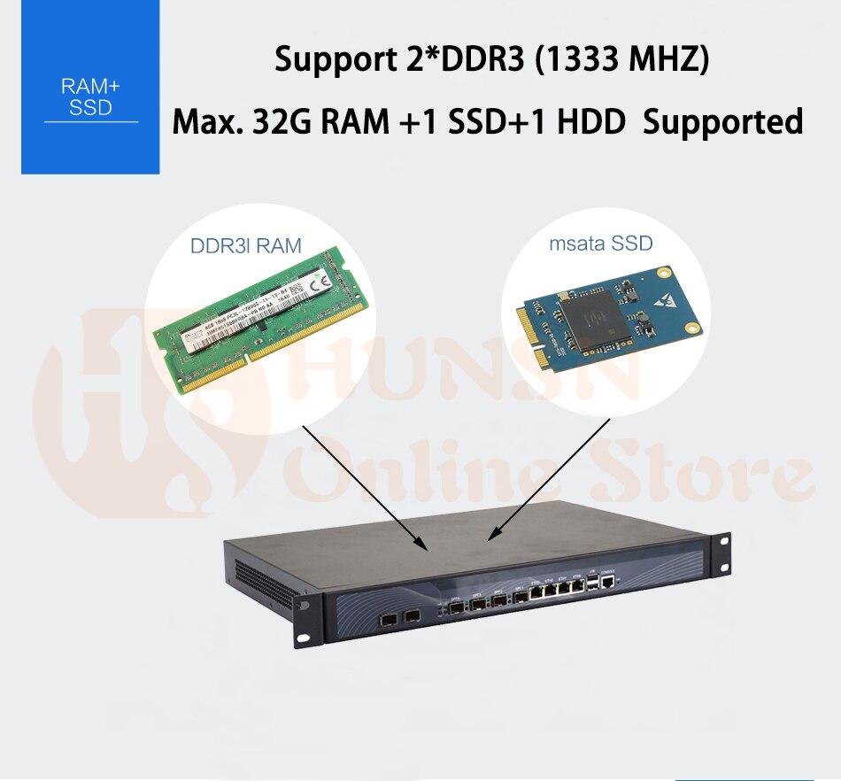 Firewall Mikrotik Pfsense Router PC I3 4160 I5 4430 I7 4770 G3250 HUNSN RS19 (17)