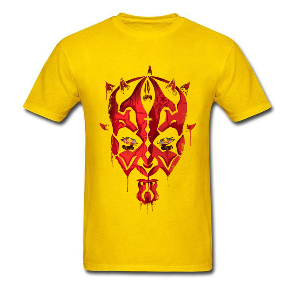Darth Maul Emerges Summer 100% Cotton Round Neck Tees Short Sleeve Design Clothing Shirt Rife Unique Top T-shirts Darth Maul Emerges yellow