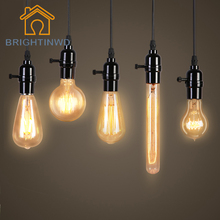 BRIGHTINWD E27 40W Edison Bulb Lamp 220V Retro Filament Incandescent Light Bulb DIY Rope Pendant Lamp Outdoor Lighting Luminaria