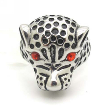 Cool Rings For Mens Classic Designer Jewelry, 2013 New Fashion Red Crystal CZ Eyes Dot Leopard Ring Biker Stainless Steel