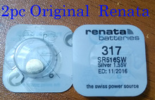 2Pcs/Lot Brand New Renata LONG LASTING 317 SR516SW SR62 D317 V317 Watch Battery Button Coin Cell Swiss Made 100% Original(China)