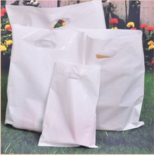 Custom Logo Plastic Bags 35x45cm pack of 200 Dress Cloth Makeup Shoe Handing shopping pouches(China)