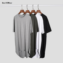 QoolXCWear 2017 hiphop  t shirt urban clothing kanye west justin bieber longline t shirts grey  extended t shirt
