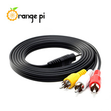 Orange Pi  70CM/2FT 3.5MM Jack to 3 RCA Male Plug Adapter Audio Converter Video AV Cable