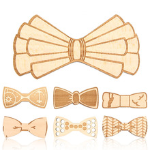 New Design Customize Small Size Boys Wooden bow ties Baby kids  Butterfly School Child Student wood tie
