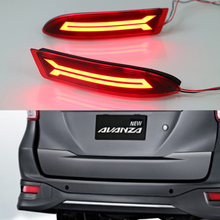 Car Styling LED Red Rear Bumper Reflectors Light Brake Parking Warning Night Running tail Lights For Toyota Avanza 2015 2016