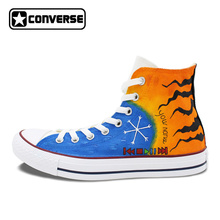Converse All Star Women Men Shoes Custom Player Dog Paws Original Design Hand Painted Shoes High Top Canvas Sneakers Best Gifts(China)