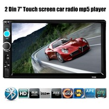 Car Stereo Bluetooth Radio HD 7 INCH 2 DIN Touch Screen Handsfree TF/USB/AUX MP4/MP5 Support Rear View Camera Player Head Unit(China)