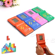 Childhood Classical LCD Game Electronic Vintage Classic Tetris Brick Handheld Arcade Pocket Toys Tetris Game Toy(China)