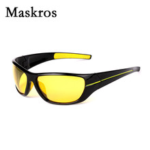Maskros best quality HD polarized men's sunglasses night driving polarizing glasses for vision male fishing goggles man uv400