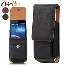 Premium Vertical Leather Case for Leagoo T5 / T5S , M7 M8 Pro , Shark 5000 , M5 Plus , T10 Phone Holster Swivel Belt Clip Cover(China)