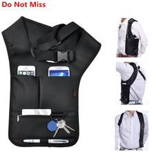 Anti-Theft Women Armpits Shoulder Messenger Cross-package Fashion Cool Male Invisible Backpack Anti Theft Bag Big Agent package