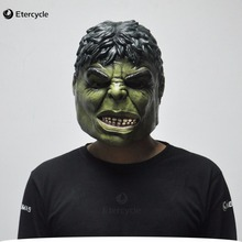 Green Hulk Mask Men's Silicone Face Mask Movie Cosplay Props Fancy Dress for Halloween