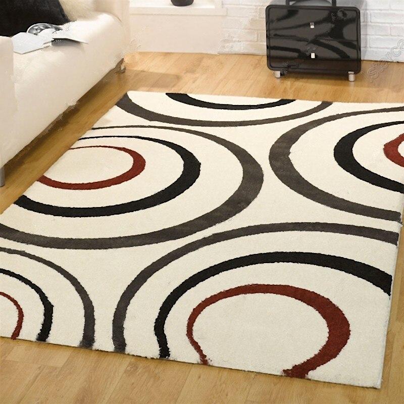 Living Room Carpet Modern Brief Carpet Fashion Sofa Coffee Table Carpet Bed  Rug(China (