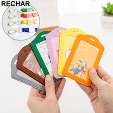 3PCS Cartoon Card Holder Pu Bus Card Case Holder Cat  Student ID Identity Badge Credit Cards Cover With Lanyard