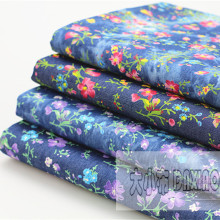 50x145cm Print Flower Denim Fabric Tie Dyed DIY Summer Dress Trousers Bag Patchwork