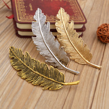 New Korean Style Headdress Headwear Feather Leaves Hairpin Spring Female Women Ladies Hair Clip Hairgrips FS0406(China)