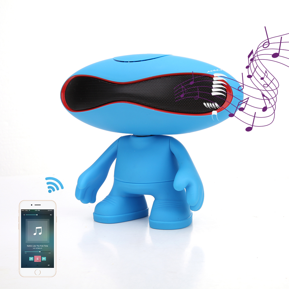 Alien Style Wireless Bluetooth V3.0 Speaker Loud sound audio columnTF AUX USB FM Radio Hands-free Portable Mp3 Mini Subwoof L3FE(China (Mainland))