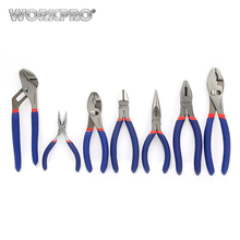 WORKPRO 7PC Pliers Set Plumbing Plier Long Nose Plier Cable Wire Cutter Electrical Tool Set Free Shipping(China)